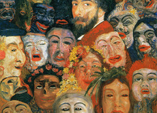 James Ensor � Self-Portrait with Masks � Estate of James Ensor � SABAM  Belgium 2013